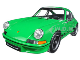 1973 Porsche 911 Carrera RS Green with Black Stripes 1/18 Diecast Model Car Welly 18044