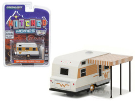 1964 Winnebago Travel Trailer 216 White and Gold 1/64 Diecast Model Greenlight 34010 C