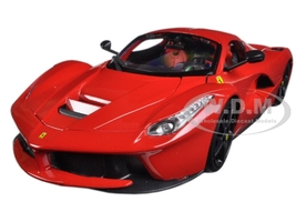 Ferrari LaFerrari F70 Red with Black Wheels 1/18 Diecast Model Car Bburago 16001