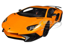 Lamborghini Aventador LP750-4 SV Arancio Atlas/ Metallic Orange 1/18 Model Car Autoart 74557