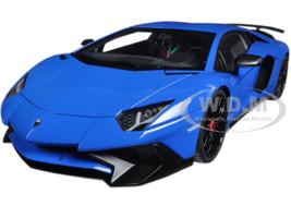 Lamborghini Aventador LP750-4 SV Blue Le Mans/ Blue 1/18 Model Car Autoart 74559