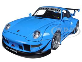 Porsche RWB 993 Blue with Gun Grey Wheels 1/18 Model Car Autoart 78152