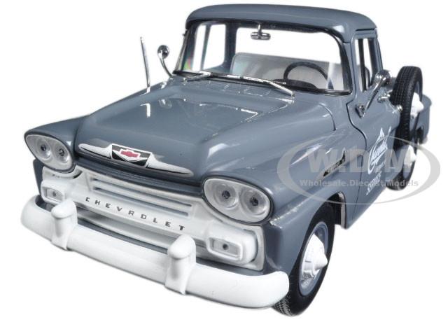 1958 Chevrolet Apache Stepside Truck Granite Gray 124 Diecast