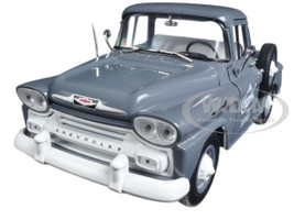 1958 Chevrolet Apache Stepside Truck Granite Gray  1/24 Diecast Model Car M2 Machines 40300-55A