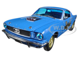 1966 Ford Mustang 2+2 GT Fastback Metallic Blue 1/24 Diecast Model Car M2 Machines 40300-55B