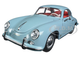 1957 Porsche 356A 1500 GS Carrera GT Coupe Meissen Blue 1/18 Diecast Model Car Sunstar 1329