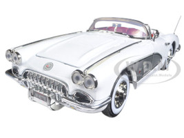 1958 Chevrolet Corvette White Timeless Classics 1/18 Diecast Model Car Motormax 73109