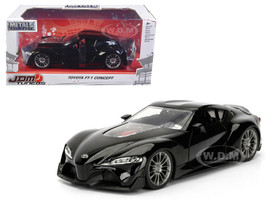 Toyota FT-1 Concept Black JDM Tuners 1/24 Diecast Model Car Jada 98687