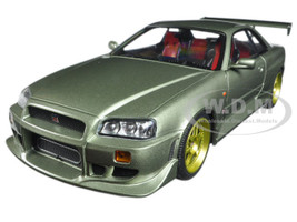 1999 Nissan Skyline GT-R (R34) Millennium Jade 1/18 Diecast Model Car Greenlight 19033
