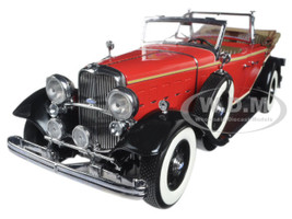 1932 Ford Lincoln KB Top Down Red 1/18 Diecast Model Car Sunstar 6166