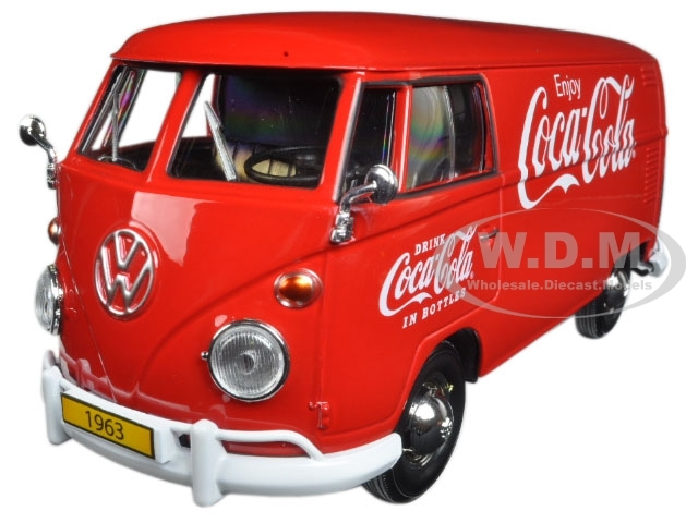 1963 Volkswagen T1 Coca Cola Cargo Van with Delivery Driver 1/24 Diecast Model Car Motor City Classics 424062