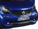 2015 Smart For Four Black and Blue 1/18 Diecast Model Car Norev 183435