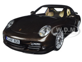 2010 Porsche 911 Turbo Brown Metallic 1/18 Diecast Model Car Norev 187622