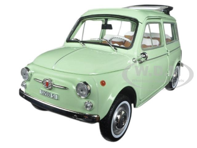 1962 Fiat 500 Giardiniera Light Green 1 18 Diecast Model Car By Norev