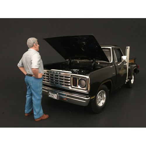 70's Style Figure V For 1:18 Scale Models American Diorama 77455
