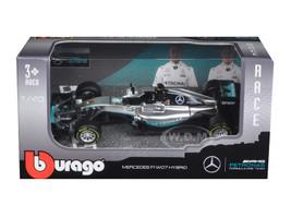 Mercedes AMG Petronas F1 W07 #6 Hybrid Nico Rosberg F1 Formula 1 Car 1/43 Diecast Model Car Bburago 38026