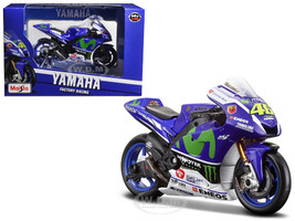 Yamaha YZR-M1 #46 2016 Moto GP Valentino Rossi Motorcycle Model 1/18 Maisto 34590