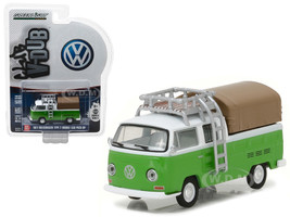 1971 Volkswagen Type 2 Double Cab Pickup with Roof Rack and Canopy Series 5 Club V-Dub 1/64 Diecast Model Car Greenlight 29870 C