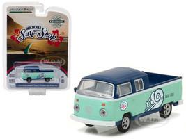 "1976 Volkswagen Type 2 Double Cab Pickup ""Doka"" Hawaii Surf Shop Hobby Exclusive 1/64 Diecast Model Car Greenlight 29894"