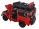 "Toyota FJ40 Land Cruiser Red ""4x4 Overlanders"" Series 1/24 Diecast Model Car Motormax 79137"