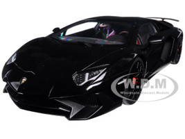 Lamborghini Aventador LP750-4 SV Nero Aldebaran/ Gloss Black 1/18 Model Car Autoart 74556