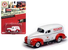 """1940 Ford Delivery Van """"Texaco""""1/64 Diecast Model Car Johnny Lightning JLTX001"""