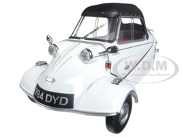 Messerschmitt KR200 Bubble Car Polar White 1/18 Diecast Model Car Oxford Diecast 18MBC005