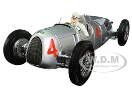 Auto Union Type C 1936 Automobile de Monaco GP 2nd Place Achille Varzi #4 Limited Edition to 504pcs with figure 1/18 Diecast Model Car Minichamps 155361004