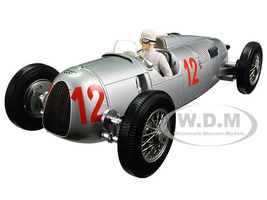 Auto Union Type C 1936 Budapest GP Hans Stuck #12 Limited Edition to 1002pcs  with figure 1/18 Diecast Model Car model Minichamps 155361012