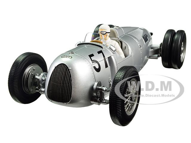 Auto Union Type C 1936 Winner Shelsley Walsh Hillclimb Hans Stuck #57 Limited Edition to 1002pcs with figure 1/18 Diecast Model Car Minichamps 155361057