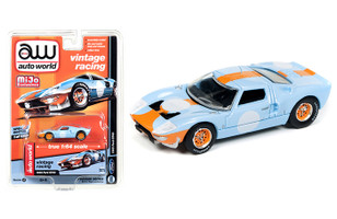 1965 Ford GT40 Vintage Racing 1/64 Diecast Model Car Autoworld CP7431