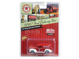 "1940 Ford Delivery Van ""Texaco"" Red 1/64 Diecast Model Car Johnny Lightning JLCP7013"