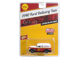 "1940 Ford Delivery Van ""Shell"" 1/64 Diecast Model Car Johnny Lightning JLCP7016"