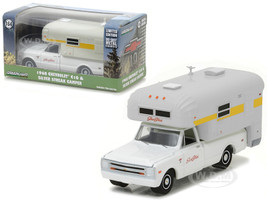 1968 Chevrolet C10 Cheyenne with Silver Streak Camper Hobby Exclusive 1/64 Diecast Model Car Greenlight 29865