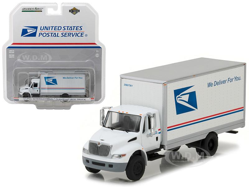 2013 International Durastar Box Truck United States Postal Service USPS HD Trucks Series 9 1/64 Diecast Model Greenlight 33090 B