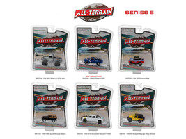 All Terrain Series 5, 6pc Diecast Car Set 1/64 Diecast Model Cars Greenlight 35070