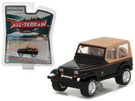 "1994 Jeep Wrangler Sahara Black ""All Terrain"" Series 5 1/64 Diecast Model Car Greenlight 35070 D"