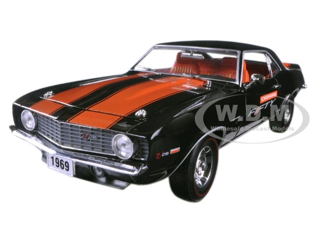 1969 Chevrolet Camaro Z28 Black And Orange Stripes Camaro Fifty