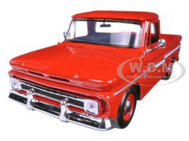 1966 Chevrolet C10 Fleetside Pickup Truck Red 1/24 Diecast Model Car Motormax 73355