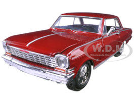 1964 Chevrolet Nova SS Burgundy 1/25 Diecast Model Car New Ray 71823 A