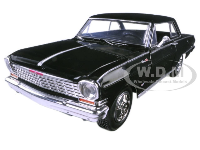 """1964 Chevrolet Nova SS Black """"Muscle Car Collection"""" 1/25 Diecast Model Car New Ray 71823 B"""