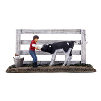 "First Bottle Feeding ""Boy Feeding Calf"" 1/25 Diecast Model First Gear 90-0500"