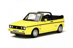 1991 Volkswagen Golf I Cabriolet Young Line Yellow Limited Edition to 2000pcs 1/18 Model Car Otto Mobile OT693