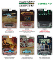 Hollywood Series / Release 17, 6pc Diecast Car Set 1/64 Diecast Model Cars Greenlight 44770
