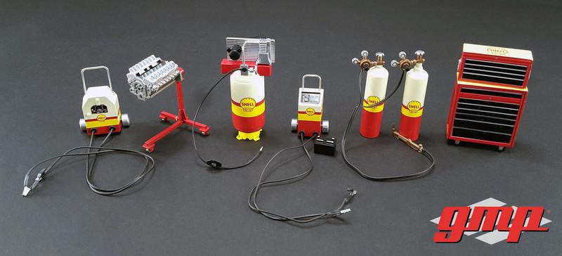 6pc Shop Tool Set #1 Shell Oil 1/18 Model GMP 18869