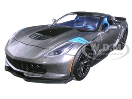 2017 Chevrolet Corvette Grand Sport Metallic Grey 1/24 Diecast Model Car Maisto 31516