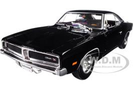 1969 Dodge Charger R/T Black 1/18 Diecast Model Car Maisto 31387