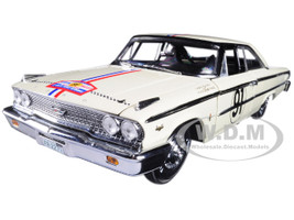 1963 Ford Galaxie 500 XL #91 H. Greder/M. Foulgoc 1963 Tour de France 1/18 Diecast Model Car Sunstar 1473
