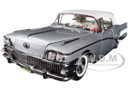 1958 Buick Limited Closed Convertible Silver Mist Platinum Edition 1/18 Diecast Model Car SunStar 4816