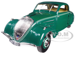 1937 Peugeot 402 Eclipse Dark Green 1/18 Diecast Model Car Norev 184871